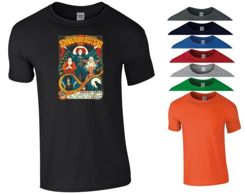 Hocus Pocus Movie T Shirt Sanderson Sisters Horror Scary Funny Gift Men Tee Top