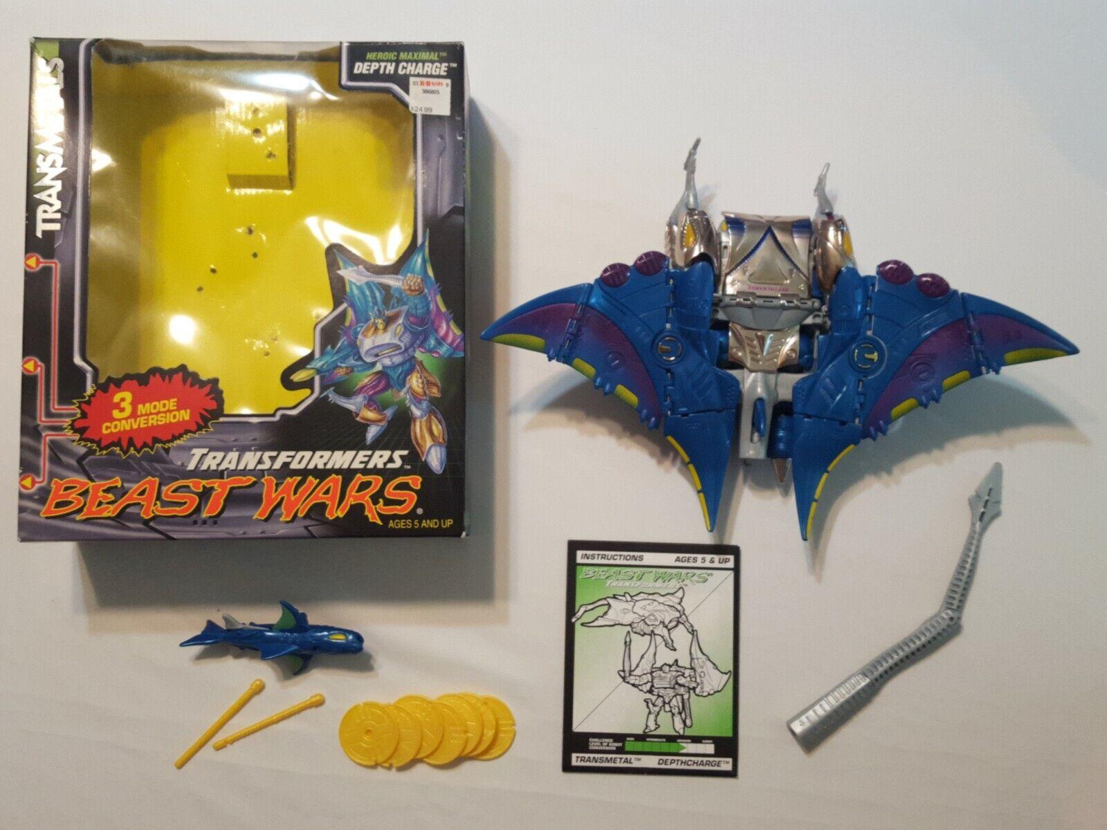 Transformers Beast Wars transmetals Depthcharge ouvert en très bon état