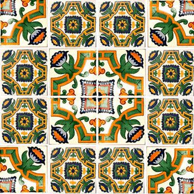 "C014 9 Ceramic Decorative Art Folk 4x4/"" Mexican Tile"