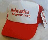 Nebraska We Grow Corn Trucker Hat Mesh Hat Snap Back Hat Red