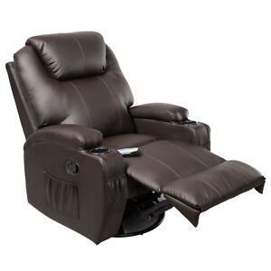 ergonomic deluxe massage sofa chair lounge executive heated w