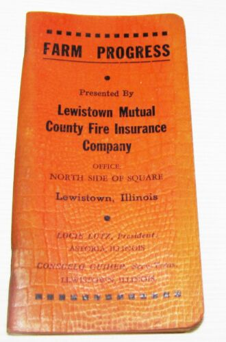 IL.--1947--POCKET NOTEBOOK--LEWISTOWN MUTUAL INSURANCE COMPANY LEWISTOWN