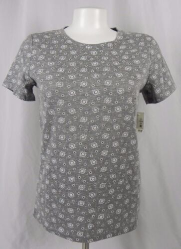 NEW Aeropostale Women/'s Prince /& Fox Gray Floral T-Shirt A1-98