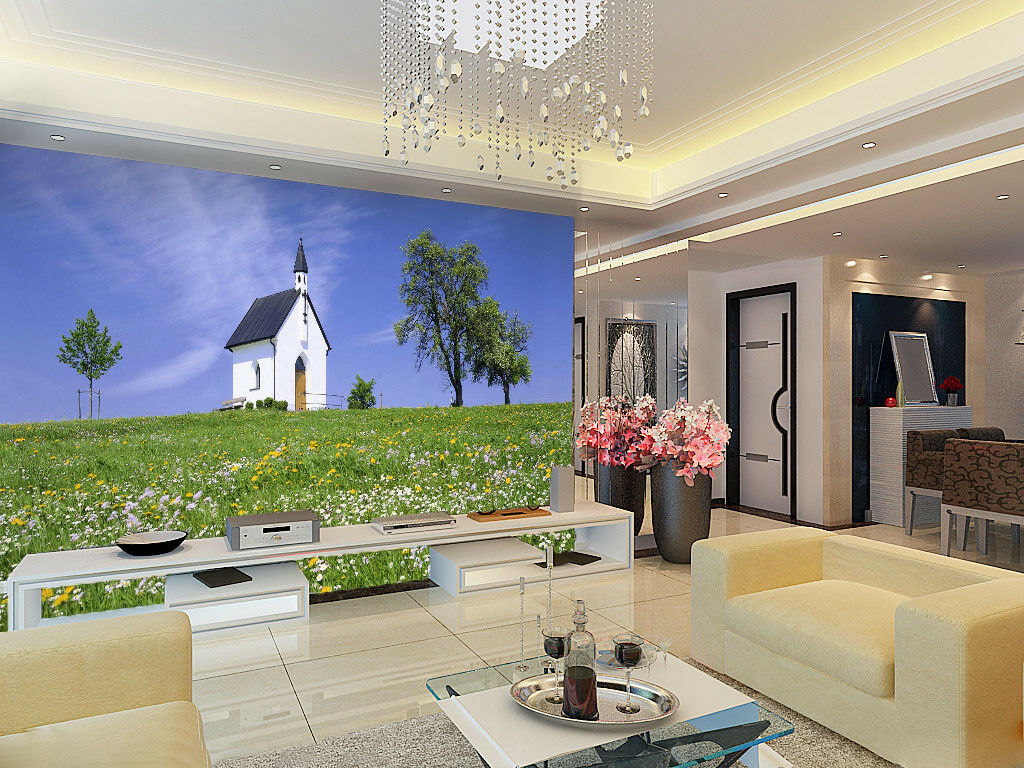 3D Sky House Garden 56 Wall Paper Wall Print Decal Wall Deco Indoor Mural Summer