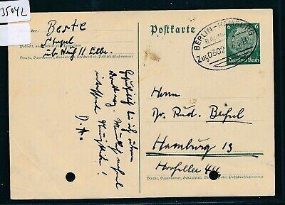 35042) Bahnpost Ovalstempel Berlin - Hamburg Zug 0302, Gelochte Ga 1941