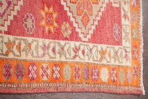 Vegetable-Dye-TRIBAL-Oushak-Turkish-Oriental-Stair-Runner-Rug-Wool-Carpet-3-039-x11-039