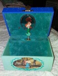 Vintage Disney The Little Mermaid Ariel Music Jewelry Box Part Of