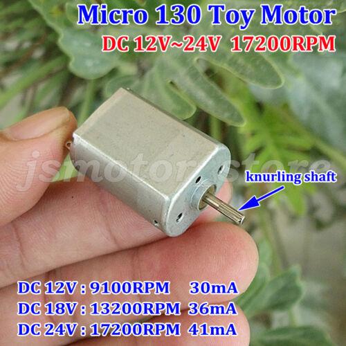 DC 12 V ~ 24 V 17200 Rpm Mini Micro Cepillo de metal de alta velocidad de motor de FP-130 Hágalo usted mismo piezas del juguete