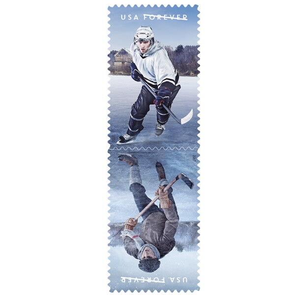 2017 49c The History of Ice Hockey, Pair Scott 5252-53