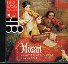CD album: Mozart: concerto for violin N° 2,3 & 4. Henry Adolph. C3