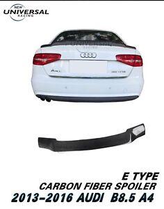 Carbon Fiber Rear Trunk Spoiler Wing For 2013-2016 Audi S4 B8.5 Sedan 4dr Type F