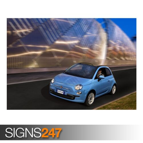 AB943 CAR POSTER Photo Picture Poster Print Art A0 to A4 FIAT 500C TWINAIR