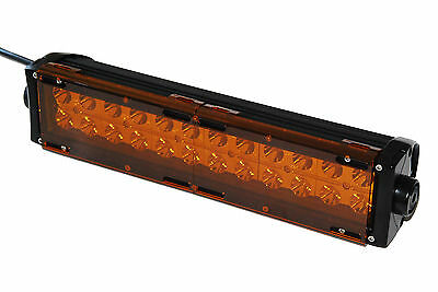 "AMBER BAR COVER led light dual row 36w 72w 180w 288w 9"" 18"" 30"" 50"" cree fog 4x4"
