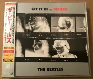The-Beatles-Let-It-Be-Naked-Japanese-2-x-Cd-Album-OBI-Strip-Lyric-Booklet