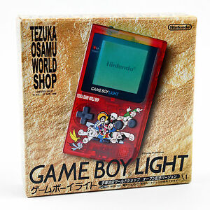 Gameboy-Light-Tezuka-Osamu-World-Shop-Nintendo-System-Red-Clear-Japan-Excellent