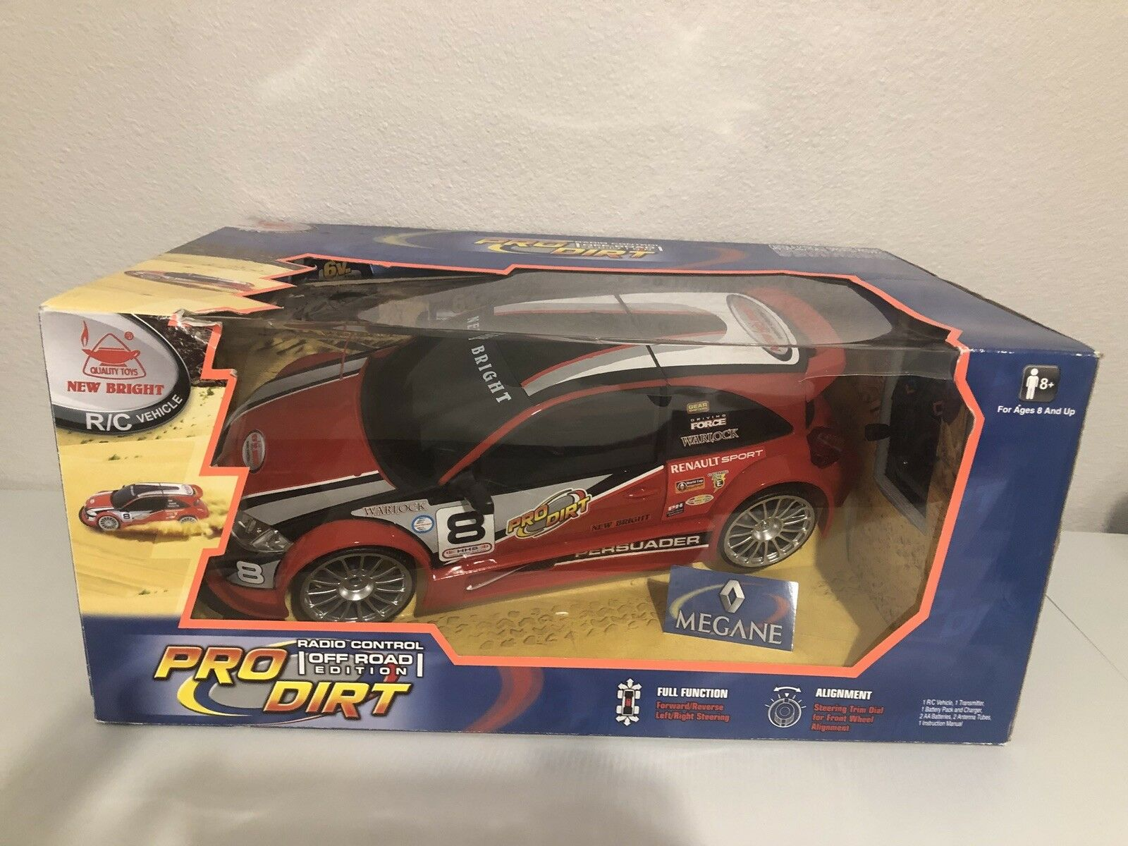 Nuovo Bright 1:10 Radio Control Persuader Megane Off Road Driving Toy - NEW
