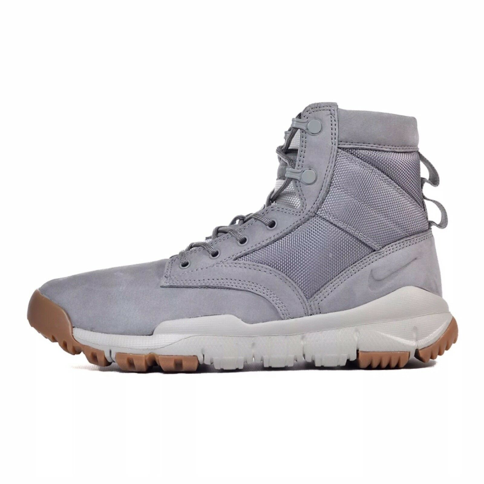 Men's Nike SFB 6  Leather NSW Grey Special Field Boots ACG Size 8 862507-003 New