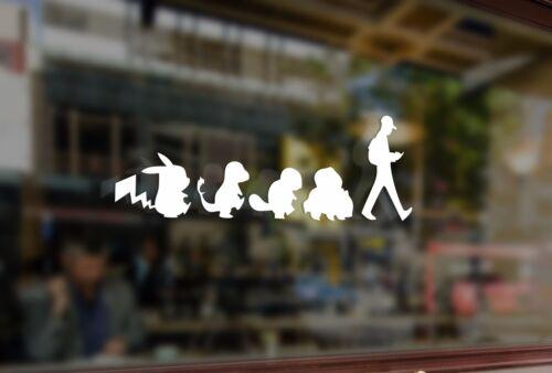 25 cm Pokemon aller Art Vinyle Stickers Autocollant Voiture auto verre Portable Fenêtre Téléphone