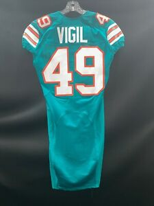 #49 ZACH VIGIL MIAMI DOLPHINS GAME USED/TEAM ISSUED THROWBACK NIKE JERSEY 2015