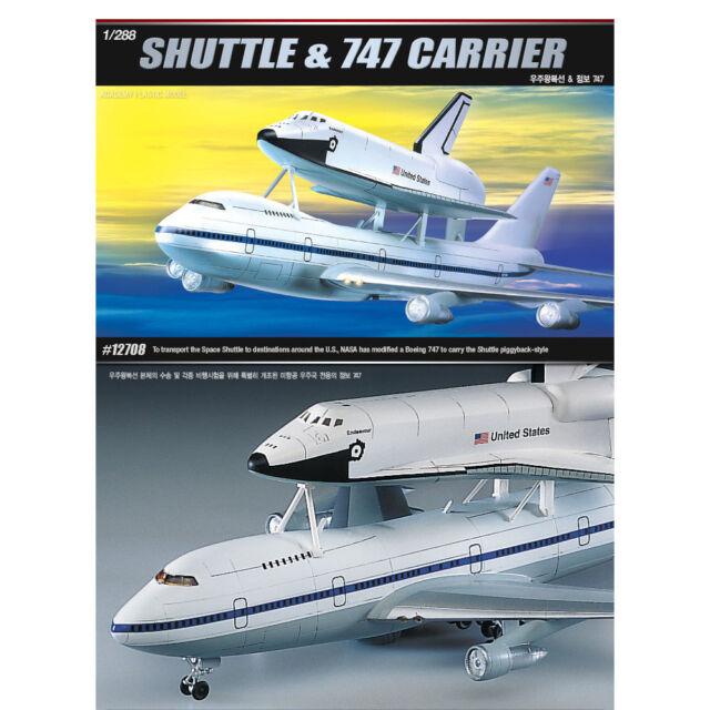 ACADEMY #12708 1/288 Plastic Model Kit Space Shuttle & NASA Transport