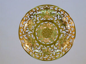 Japanese-Buddhist-Altar-Carved-Lotus-Flower-Arabesque-Gold-Plating-Temple-RARE