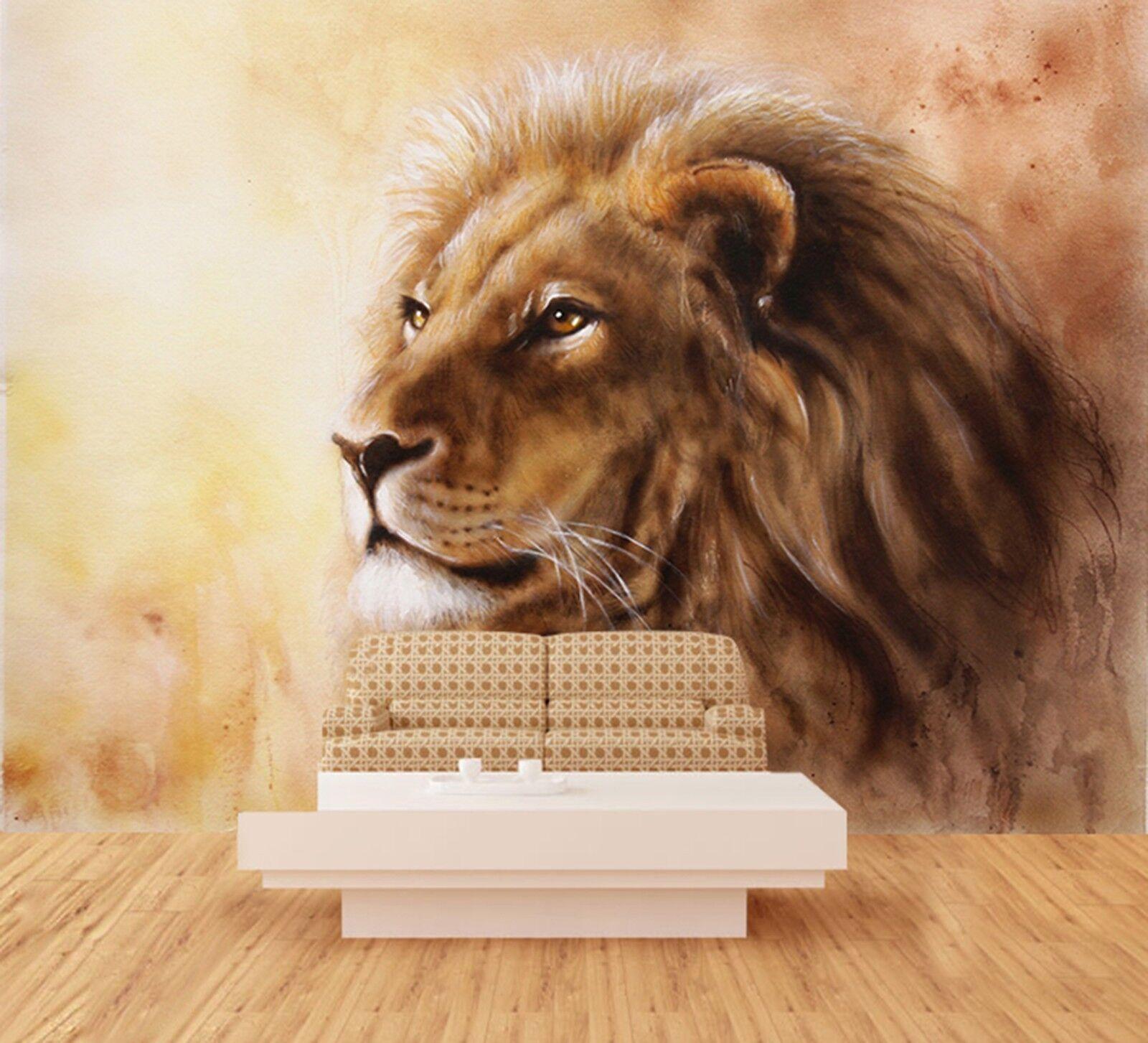 3D Gemalter Tiger Tier 895 Tapete Wandgemälde Tapeten Bild Familie DE Lemon