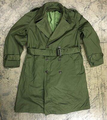 Us Army Trenchcoat Mantel Field Jacket Uniform Jeep Coat Parka Oliv Large Short