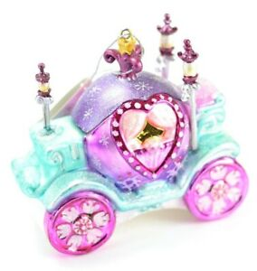 Cinderella-Princess-Coach-Carriage-Glass-Christmas-Ornament-4-5-Inch-Wide-NEW