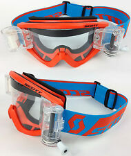 2016 SCOTT RECOIL XI MOTOCROSS MX GOGGLES ORANGE with GSVS ROLL-OFF SYSTEM