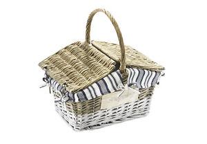 LiebenswüRdig Einkaufskorb Mit Deckel Textil Weiß/grau Hohe QualitäT Und Preiswert Möbel & Wohnen Klein- & Hängeaufbewahrung
