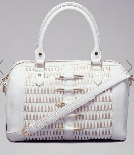 Satchel New Bebe Brand And White Gold Handbag L3A54Rj