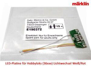 Maerklin-E190372-LED-Lok-Lichtplatine-rot-weiss-fuer-Traxx-NEU-in-OVP