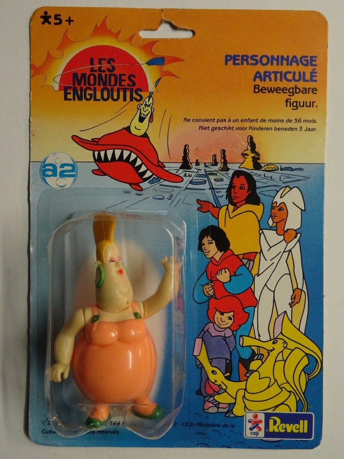 Les Mondes Engloutis - Figurine Vintage - Mass Média - Ceji   Revell 1985