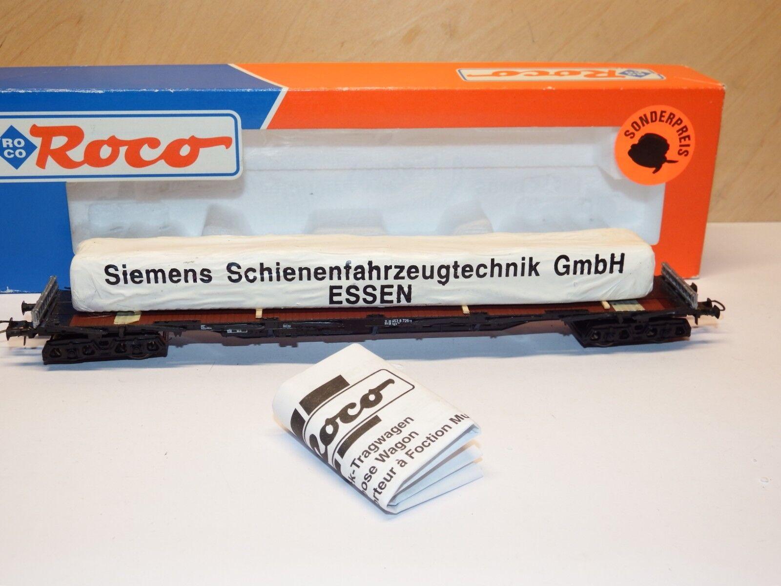 H0 Roco 47255 Rungenwagen mit Ladung DB Siemens GmbH NEM Neuwertig  OVP 6309