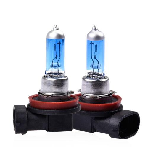 2Pcs H8 6000K Super White 12V 35w XENON HALOGEN Headlight Light Bulb Lamp Bright