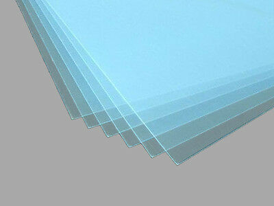 Rahmenloser Bilderhalter mit Kunstglas klar 1,0 mm Polystyrolglas vernicklete