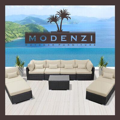 9pc Outdoor Patio Furniture Sectional Rattan Wicker Sofa