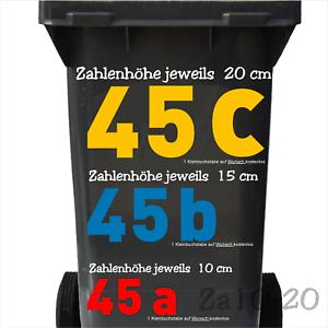 Details Zu Mülltonnen Aufkleber Hausnummern Nummer Folien Ziffern Zahlen Für Mülleimer Etc