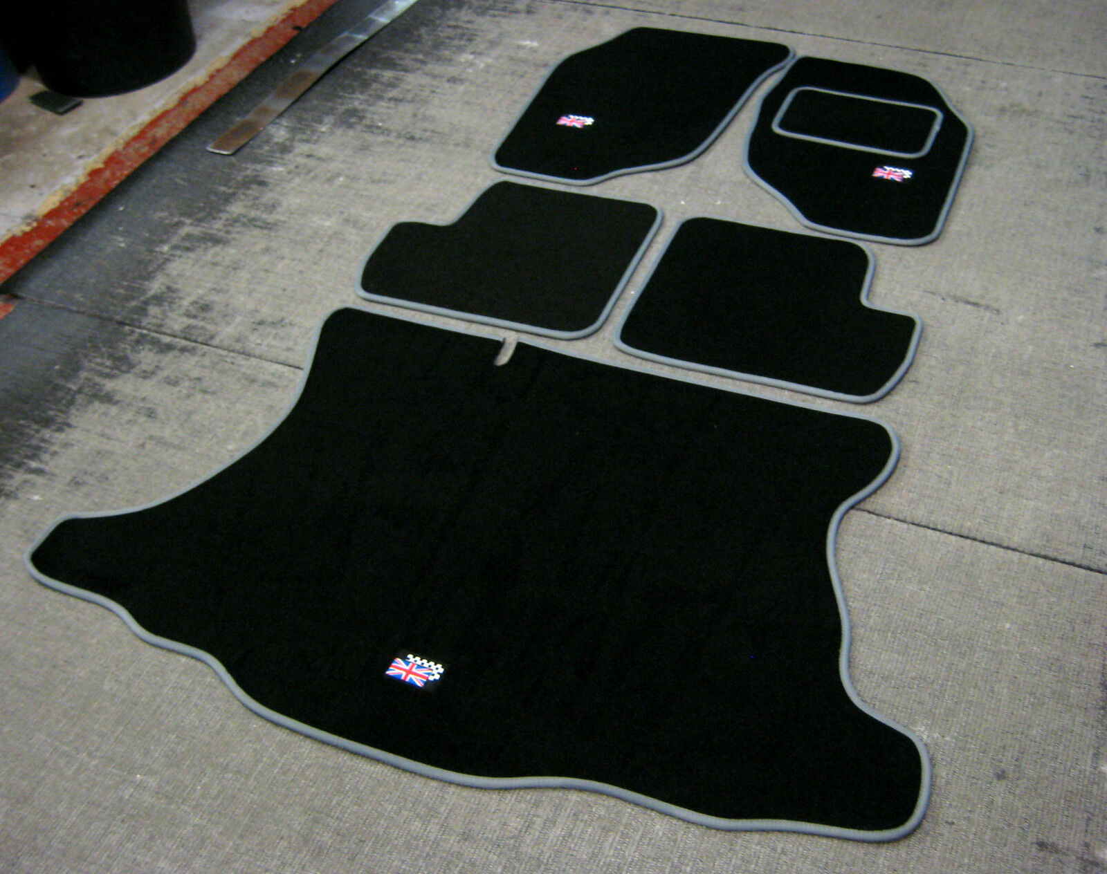 Anthracite Grey Car Mats with Black Trim Perfect Fit For Rover 25 99-05