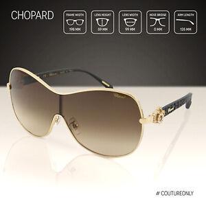 Chopard Women Sunglasses Sch C25s Brown Rose Gold Jeweled Shield Happy Diamonds 190605021293 Ebay