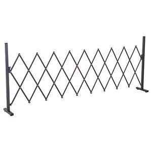 Outsunny Barrière Extensible Rétractable Barrière de Sécurité 250 x 31 x 104 cm