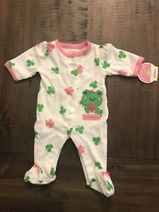 Carters Preemie Baby Girl My First St Patrick S Day Footed