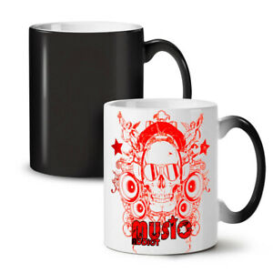 Skull Headphones Music NEW Colour Changing Tea Coffee Mug 11 oz   Wellcoda