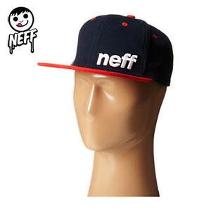 46e717494c9 Neff Daily Snapback Baseball Cap Hat Men Navy OS NWT NEW  2530 ...