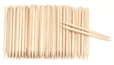100p HS Orange Wood Stick Cuticle Pusher Remover Pedicure Manicure nail art tool