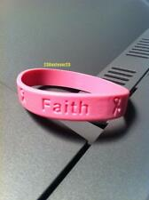 1 Pink BREAST CANCER Awareness Silicone ADULT Bracelet Wristband