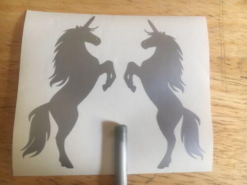 X2 Licorne Cheval Filles Autocollant Vinyle Autocollant Voiture Fantasy magical Fenêtre