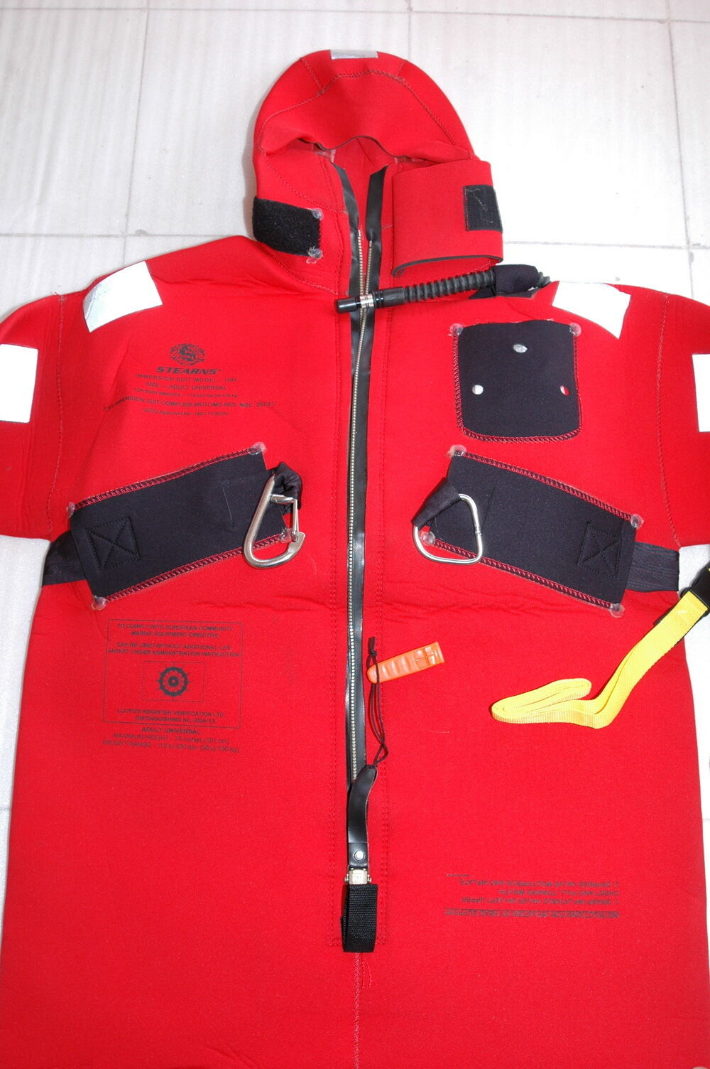 Stearns I590 USCG SOLAS Adult Universal Immersion suit  Excellent-Unused 10