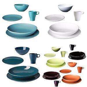 ikea f rgrik teller service speiseteller dessertteller tiefe teller tassen neu. Black Bedroom Furniture Sets. Home Design Ideas