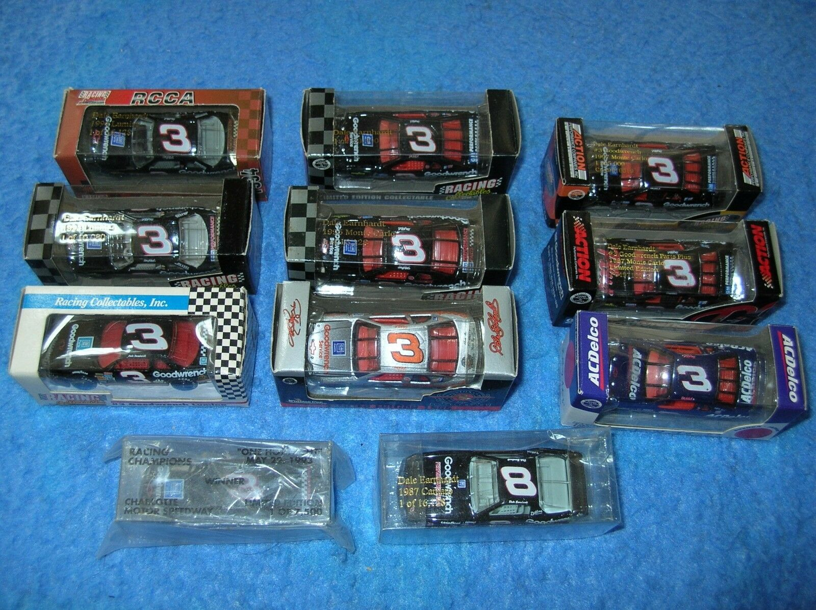11 Nascar Diecast 3 Dale Earnhardt Action Racing Collectables Suzuka Caja 1 64 Club of America AC Delco GM Chevy